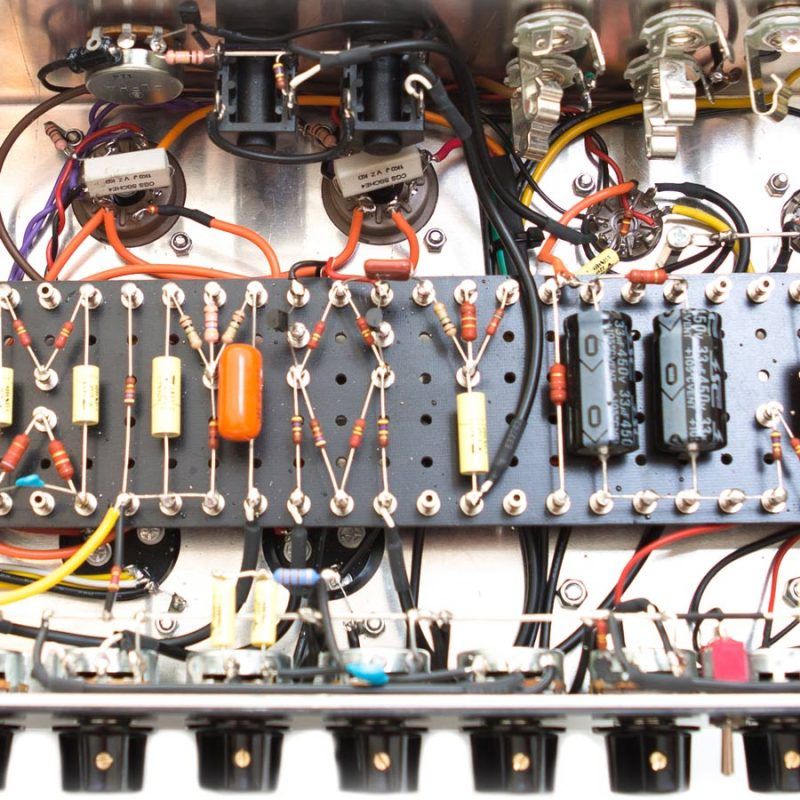 All Stoneham amps are wired by hand in our Newcastle workshop, and the V2-50C is no exception.
